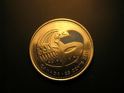 Canada 2011 Wild Life Preservation Coloured Orca 25 Cent  Mint Coin.