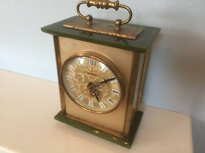 Spares Repair Bentima Brass Onyx Mantle Carriage Clock Electric Battery Motor