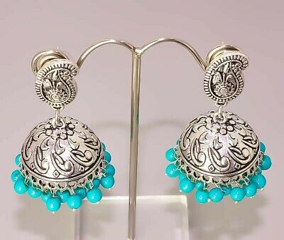 Beautiful Turquoise Jewelry 925 Sterling Silver Plated Earring