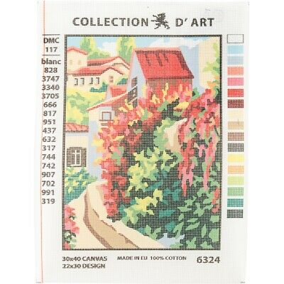 Collection D'art Needlepoint Printed Tapestry Canvas 30x40cm-red Roofs
