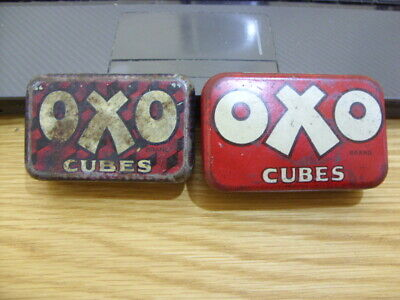 OXO Cube Tins-Vintage Retro Items-2 in Total-Please see Pictures.