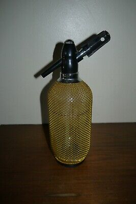 Vintage Soda Syphon Gold Mesh Cover made in Italy