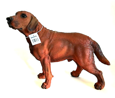 Chesapeake Bay Retriever Brown Dog Figurine Large 13 inches Long