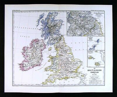 1880 Spruner Map - British Isles 1485-1830 - England Scotland Wales Ireland UK