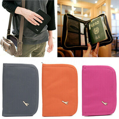 4 Color Travel Passport ID Card Cover Holder Storage Case Protector Organizer