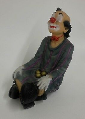 Clown Dipinto A Mano Made in Italy Painted by Hand 25cm