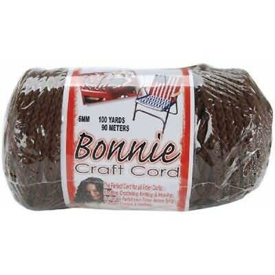 Pepperell Polyolefin Fiber Bonnie Macrame Craft Cord 6 Mmx 100 Yard-brown -