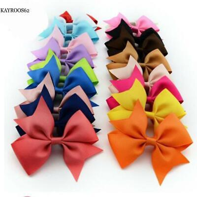 20Pcs Hair Bows Clips Hair Accessories For Girl Baby Kids Teens Toddlers KA62