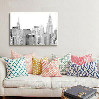 Black And White New York City Canvas Print Empire State Building Wall Poster