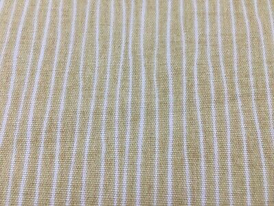 "Jack Stripe Cotton Deep Ochre Yellow y/White 140cm/54"" wide Curtain Fabric"