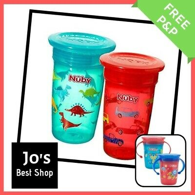 Baby Cup No Spill Leak Water Bottle Toddler Training Drinking Sippy Plastic Kids