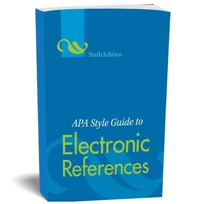 APA Style Guide to Electronic References, 6th Edition (PDF)