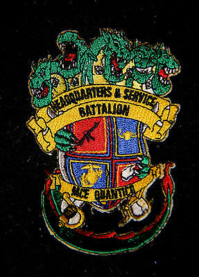 H & S Headquarters & Service Bn Mce Quantico Patch Us Marines Pin Up