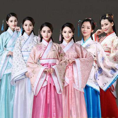 Traditional Ancient chinese costume woman tang dynasty dress fairy hanfu NEW