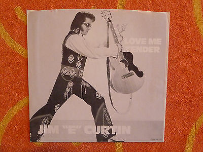 """JIM """"E"""" CURTAIN Love Me Tender 45 rpm PICTURE SLEEVE ONLY 1978 ELVIS PRESLEY"""
