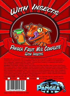 NEW Pangea COMPLETE Fruit Mix with Insects Crested Leachie Gecko Diet 2oz