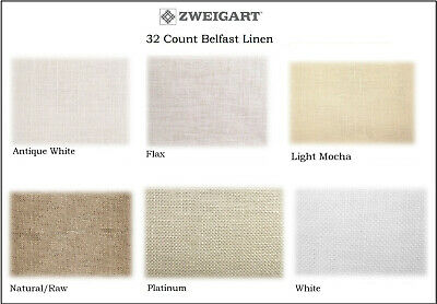 32 Count Belfast Linen by ZWEIGART ** You Choose Cut and Color **