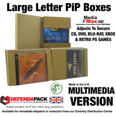 Multimedia PiP POSTAL Boxes Mailers LARGE LETTER for CD DVDs Video PC Wii Games