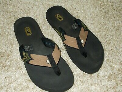 29b1d23536a9 Teva Mush Men s Thong Sandals Flip Flops Black   Brown   Green Size 9