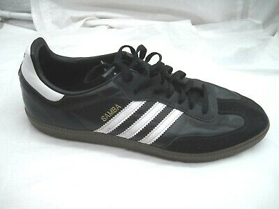 77b64ec4aff Adidas Samba black white leather indoor soccer mens athletic shoes sz 14D  2011