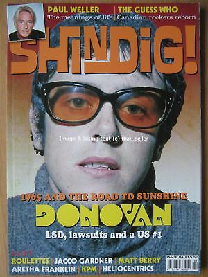 Shindig issue 84 Paul Weller Donovan The Kinks Roulettes Jacco Gardner Guess Who