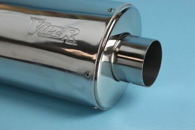 Viper Alloy Oval Micro Slip-On Race Exhaust Can Suzuki GSF 650 Bandit (K9) 2009