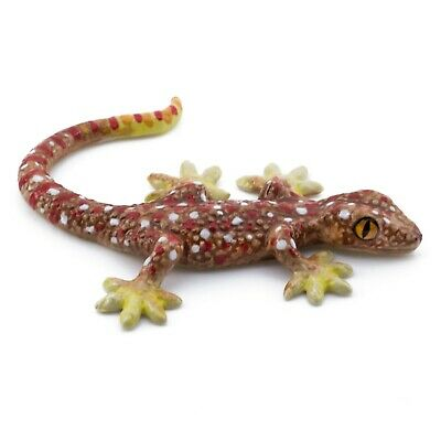 "Miniature Gecko Lizard Figurine 3.5"" Long Glossy New"
