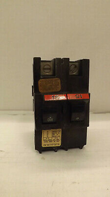 FEDERAL PACIFIC FPE 2 Pole 15 Amp Type NA STAB-LOK NA215 Circuit Breaker TESTED
