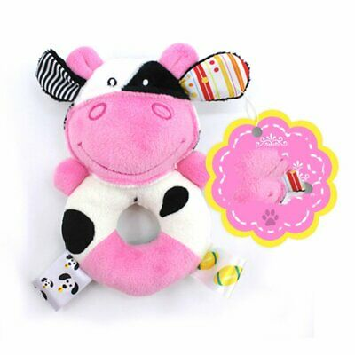 0-1Y Baby Rattle Mobiles Cute Baby Toys Cartoon Animal Hand Bell Rattle QU