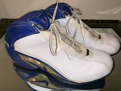 cheap for discount 8f582 4167c Nike Air Zoom Flight 2003 Blue White Silver Men s Basketball Sneakers Size 9