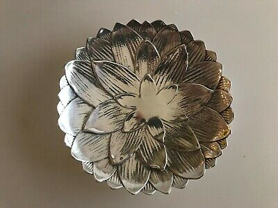Tiffany & Co Sterling Silver Makers Lotus Flower Small Dish Bowl 6 1/8' Vintage