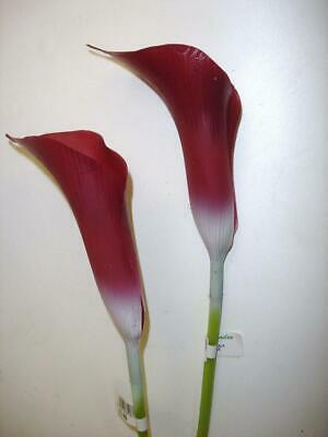 24 New Stems Burgandy Calla Lily Synthetic Artificial Flowers Joblot Deal