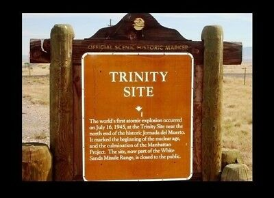 Trinity Test Site SIGN Nuclear PHOTO Atomic Bomb Weapon,White Sands Range Marker