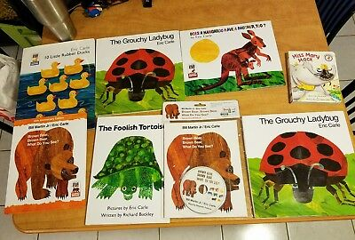 Hardcover Book Lot Eric Carle Brown Bear Grouchy