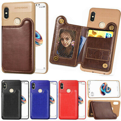 For Xiaomi Redmi 4X 5 Plus Note 5A Shockproof Card Holder Stand Back Case Cover