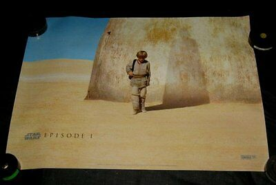 Original 1999 Star Wars: Episode i - The Phantom Menace 30x40 British Cuádruple