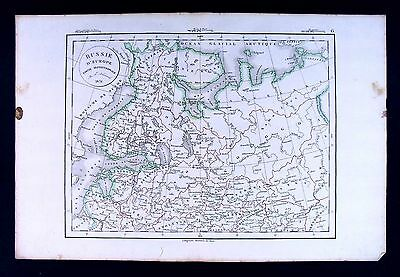 1832 Antique Map Delamarche North Russia St. Petersburg Moscow Estonia Europe