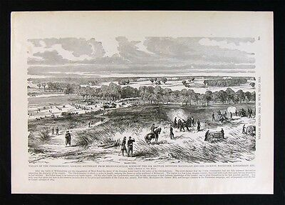 Leslie Civil War Print - Valley of the Chickahominy from Mechanicsville Virginia