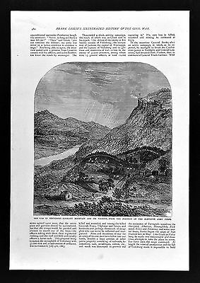 Leslie Civil War Print - View of Lookout Mountain near Chattanooga Tennessee