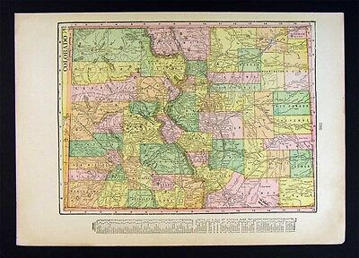 1899 NORTHRUP MAP - Colorado & Wyoming - Denver Bolder ...