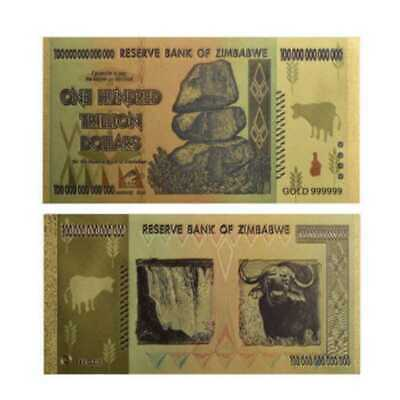 Zimbabwe 100 Trillion Dollar Banknote World Currency Bill  Money Collection
