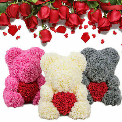 Romantic Rose Doll Bear Flower Birthday Party Wedding Gifts PE Bouquet Hot
