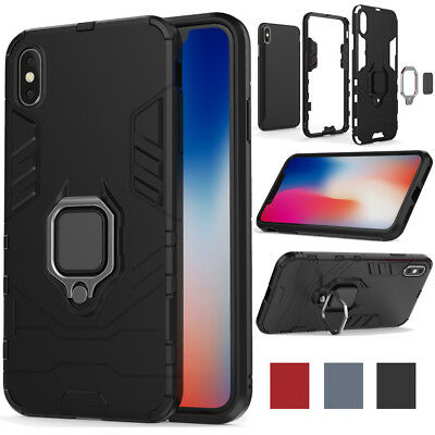 Hybrid Hard Armor Shockproof Case Kickstand Phone Cover For iPhone X Xr Xs Max