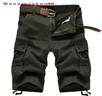 hot sale Mens loose casual pure cotton casual multi pocket pants shorts trousers
