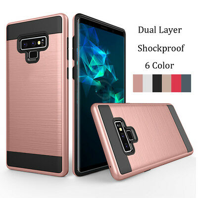 Slim Hybrid Tough Armor Case Shockproof Bumper Cover For Samsung Galaxy Note 9
