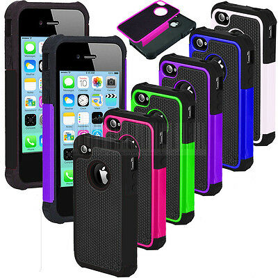 Heavy Duty Hybrid Rugged Hard Case Impact Silicone Cover For Apple iPhone 5C