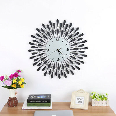Large 3D Modern Frameless Wall Clock Style Watches Hours Room Home Analogue DIY
