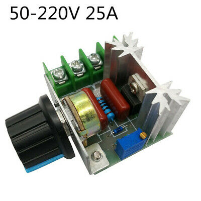 2000W AC 50-220V 25A Adjustable Motor Speed Controller Voltage Regulator PWM