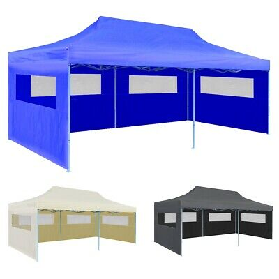 vidaXL Carpa Plegable Pop-up con Paredes Laterales 3x6 m Diferentes Colores