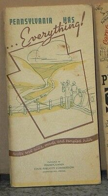 1937 Pennsylvania has Everything! Vacation Booklet
